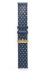 Shore Projects 20Mm Polka Dot Leather Watch Strap
