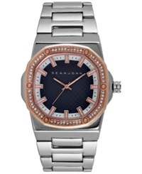 Sean John Men's Silver Tone Bracelet Watch 42X44mm 10026890