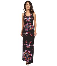 Nicole Miller Vanessa Bohemian Fleur Maxi Dress Multi Women's Dress