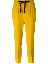 Incotex Cropped Trousers Yellow And Orange