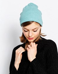 Hat Attack Lightweight Knit Slouchy Beanie Heather Teal Blue