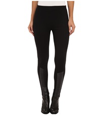 Lauren Ralph Lauren Quilted Faux Leather Legging Black Women's Clothing