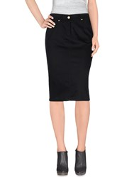 Clips More Skirts Knee Length Skirts Women Black