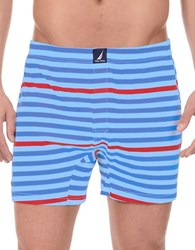 Nautica Patterned Cotton Boxers Red Nautica