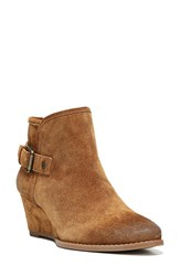 Franco Sarto Women's 'Wichita' Wedge Bootie Cognac Suede