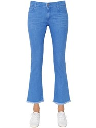 Stella Mccartney Cropped And Flared Cotton Denim Jeans