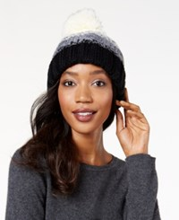 Rampage Colorblock Beanie Only At Macy's Black Ivory