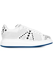 Alexander Mcqueen Extended Sole Laser Cut Sneakers White