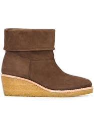 A.P.C. Platform Ankle Boots Brown