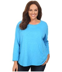 Fresh Produce Plus Size Catalina Shirt Marina Blue Women's Clothing