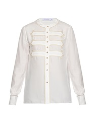 Altuzarra Long Sleeved Silk Charmeuse Shirt