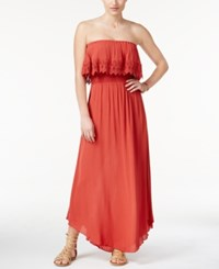 American Rag Strapless Popover Maxi Dress Only At Macy's Burnt Orange