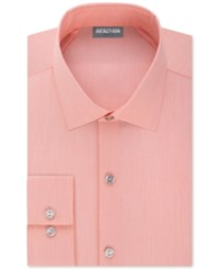 Kenneth Cole Reaction Techni Stretch Slim Fit Solid Dress Shirt Orange