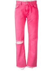 Alyx Fringed Cuff Relaxed Jean Pink And Purple