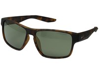 Nike Essential Venture R Matte Tortoise Green Gunmetal Flash Lens Athletic Performance Sport Sunglasses