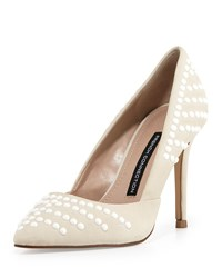 French Connection Elmyra Studded D'orsay Pump Winter Whi