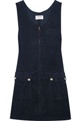 Frame Le Cord Corduroy Mini Dress Navy