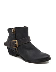Dolce Vita Leather Zipper Booties Black