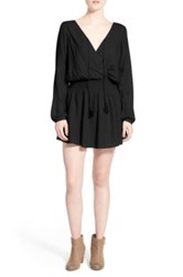 Rip Curl 'Morning Light' Check Woven Dress Black