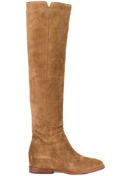 Ash Knee Length Boots Brown