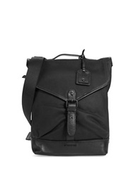 Cole Haan Leather Trimmed Crossbody Bag Black