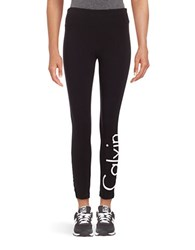 Calvin Klein Active Logo Leggings White Black