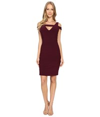 Adrianna Papell Cold Shoulder Banded Dress Cassis Women's Dress Purple