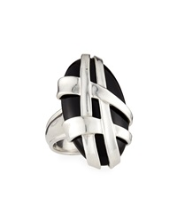 Slane Crescent Weave Black Onyx Ring Size 7