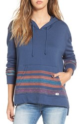 Billabong Women's 'Nothing Compares' Print Hoodie Blue Tide