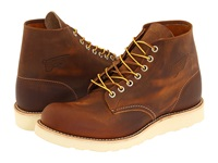 Red Wing Shoes Classic Work 6 Round Toe Copper Rough And Tough Men's Lace Up Boots Tan