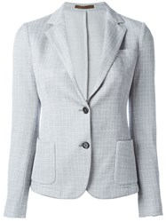 Eleventy Patch Pocket Blazer Grey
