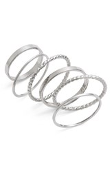 Women's Bp. Rings Silver Set Of 6