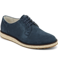 Camper Nubuck Wedge Derby Navy