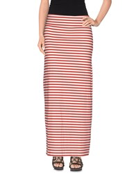 Pieces Skirts Long Skirts Women Red