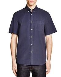 Rag And Bone Rag And Bone Standard Issue Regular Fit Button Down Shirt Navy