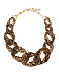 Leopard Print Enamel Link Necklace Kenneth Jay Lane