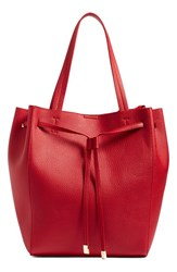 Bp. Faux Leather Drawstring Tote Red