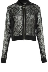 Alice And You Lace Bomber Jacket Black