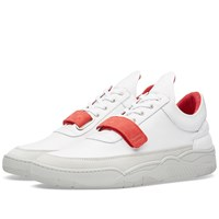 Filling Pieces Low Top Red Strap Sneaker White