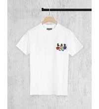 Lifes A Beach Flower Logo Print Cotton Jersey T Shirt White