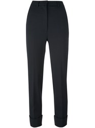 Hache Tailored Trousers Blue