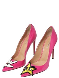 Dsquared2 110Mm Punk Patch Patent Leather Pumps