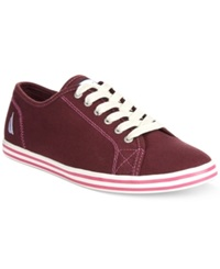 Nautica Lanyard Canvas Sneakers Women's Shoes Wine Tasting Canvas