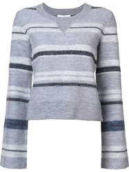 Derek Lam 10 Crosby Striped Jumper Grey
