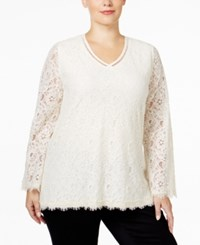 Styleandco. Style Co. Plus Size Lace Swing Top Only At Macy's Warm Ivory