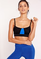 Missguided Active Cropped Sports Bra Black Black