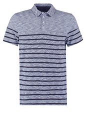 Pier One Polo Shirt Blue Melange Mottled Blue