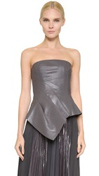 J. Mendel Leather Bustier Top Anthracite