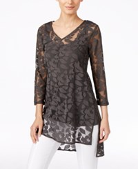 Alfani Burnout Floral Print Tunic Only At Macy's Urban Olive