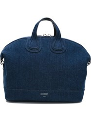 Givenchy 'Nightingale' Denim Tote Blue
